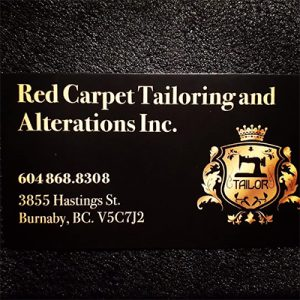 Red Carpet Tailoring Alteration